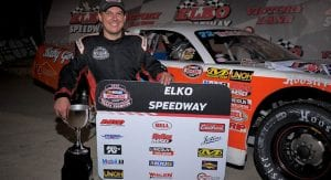 2019 NASCAR Whelen All-American Series champ Jacob Goede at his home track, Elko Speedway.