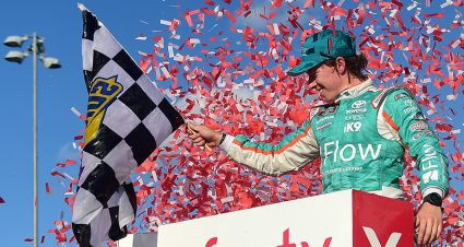 Brandon Jones lands first Xfinity win at Kansas; Custer, Reddick scrap