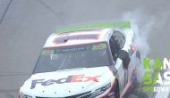 Federal Express yourself: Denny Hamlin burns it down at Kansas