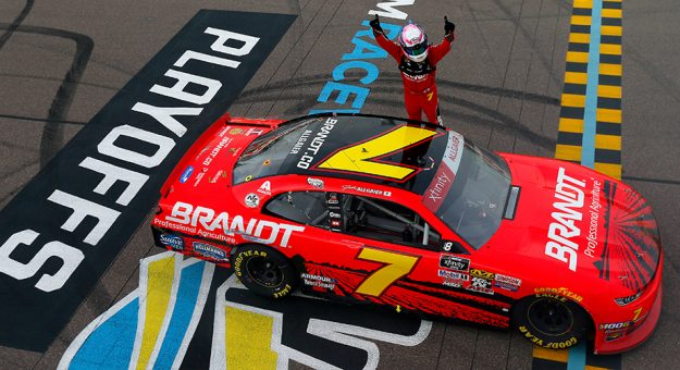 Justin Allgaier charges into Championship 4 with Xfinity win