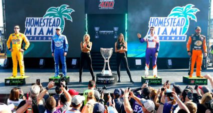 Denny Hamlin drives No. 11 Toyota Camry to 10th-place finish at Homestead-Miami Speedway