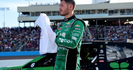 Kyle Larson drives No. 42 Chevrolet Camaro to fourth-place finish at ISM Raceway