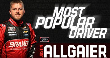 Justin Allgaier wins Most Popular Driver Award in Xfinity Series