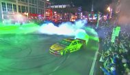 Logano drifts to perfect score with Nashville burnout