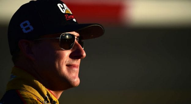 Daniel Hemric in sunglasses and hat