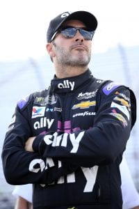 LOUDON, NEW HAMPSHIRE - JULY 19: Jimmie Johnson, driver of the #48 Ally Chevrolet, stands by his car during qualifying for the Monster Energy NASCAR Cup Series Foxwoods Resort Casino 301 at New Hampshire Motor Speedway on July 19, 2019 in Loudon, New Hampshire. (Photo by Chris Trotman/Getty Images) | Getty Images