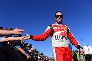 MARTINSVILLE, VIRGINIA - OCTOBER 27: Alex Bowman, driver of the #88 Llumar Chevrolet, walks to the stage during pre-race ceremonies for the Monster Energy NASCAR Cup Series First Data 500 at Martinsville Speedway on October 27, 2019 in Martinsville, Virginia. (Photo by Jared C. Tilton/Getty Images) | Getty Images