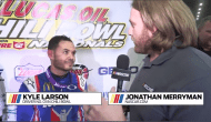 Larson: 'Awesome to finally get (Chili Bowl) done, it's pretty unreal'