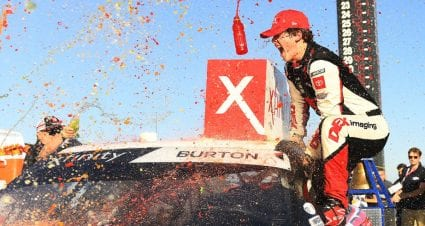 Harrison Burton wins Xfinity race in Fontana