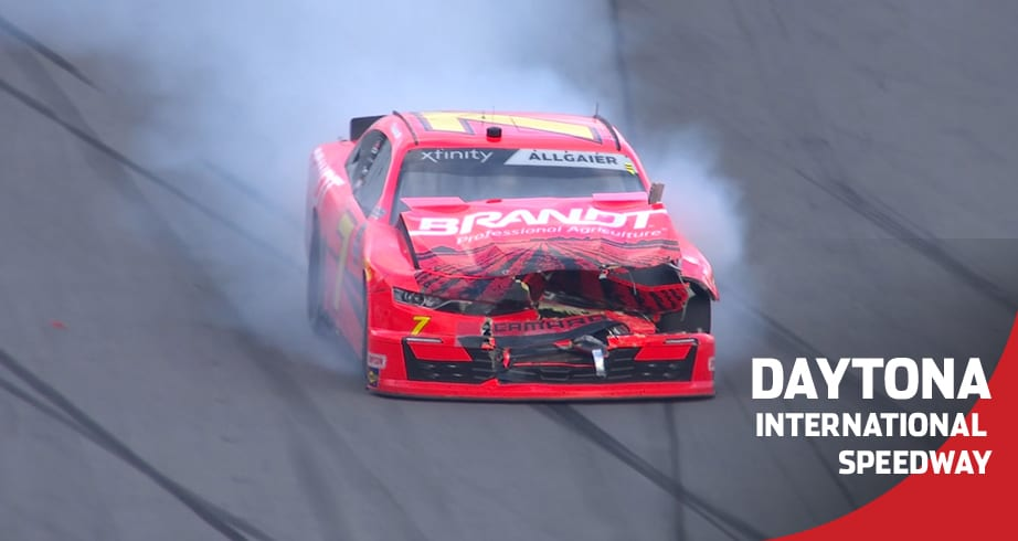 Justin Allgaier done early after late-race crash
