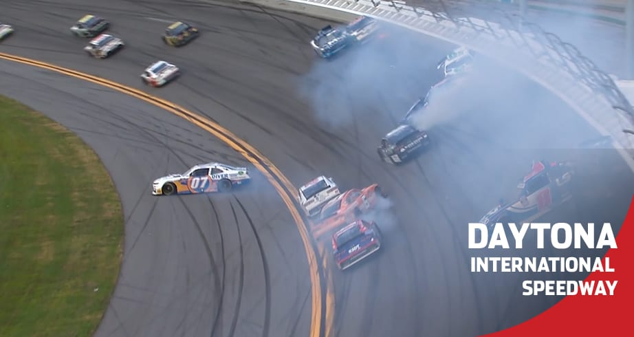 The 'Big One' takes out lead cars late at Daytona