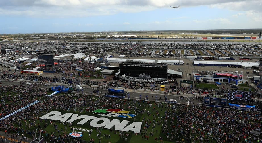 President gives command at Daytona 500