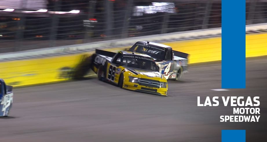 Contact between Lessard, Enfinger leads to wreck, end of their race