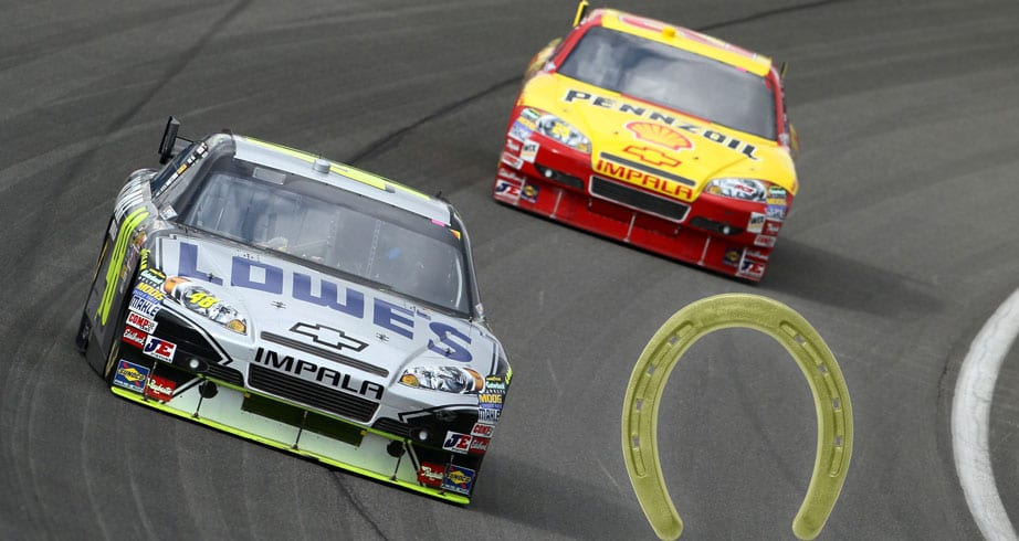 Looking back: The story of Jimmie Johnson, Kevin Harvick and the 'golden horseshoe'