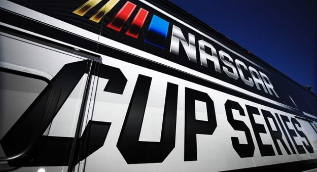 AVONDALE, ARIZONA - MARCH 06: A general view of the NASCAR Cup Series logo during practice for the NASCAR Cup Series FanShield 500 at Phoenix Raceway on March 06, 2020 in Avondale, Arizona. (Photo by Chris Graythen/Getty Images) | Getty Images