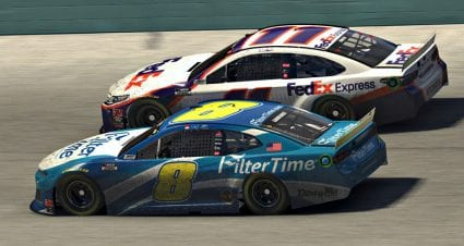 Denny Hamlin holds off Dale Jr. for Homestead-Miami win in iRacing Pro opener