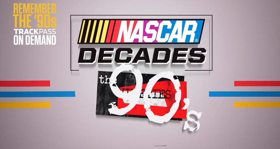 NASCAR Decades: The 90s on NBC's Trackpass