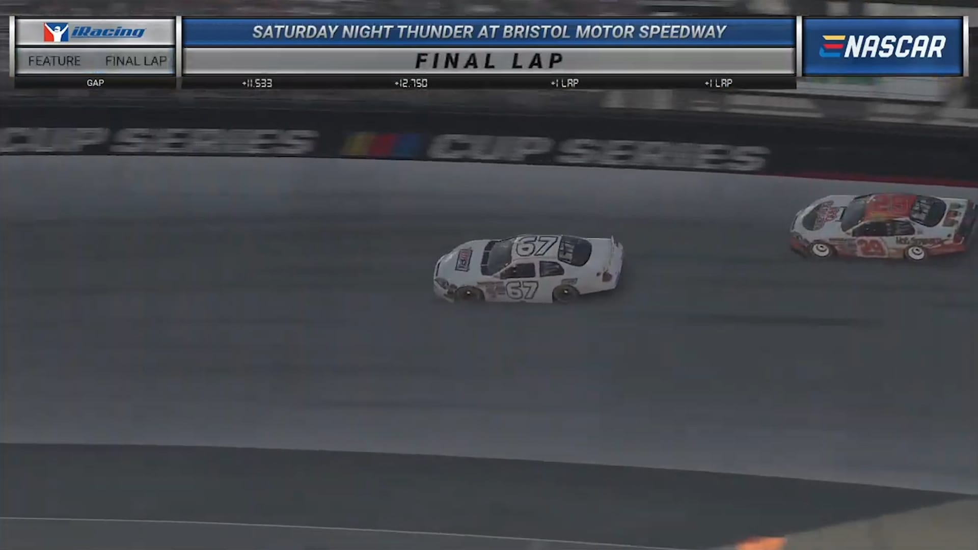 Logan Seavey wins iRacing Saturday Night Thunder at Bristol