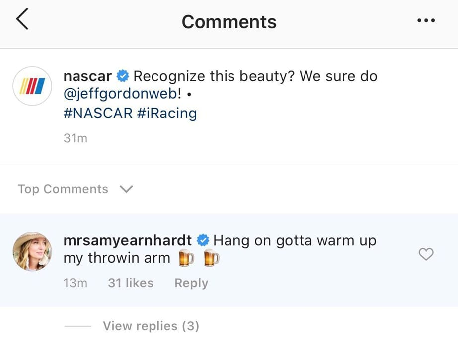 Amy Earnhardt Comment Ig