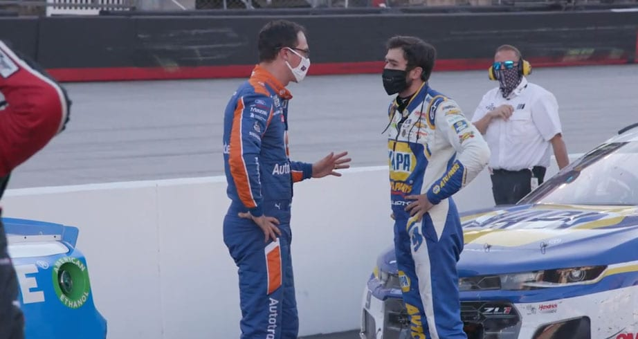 Exclusive angle: Exchange between Logano, Elliott following Bristol