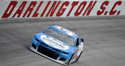 Starting lineup for Wednesday night's race at Darlington Raceway