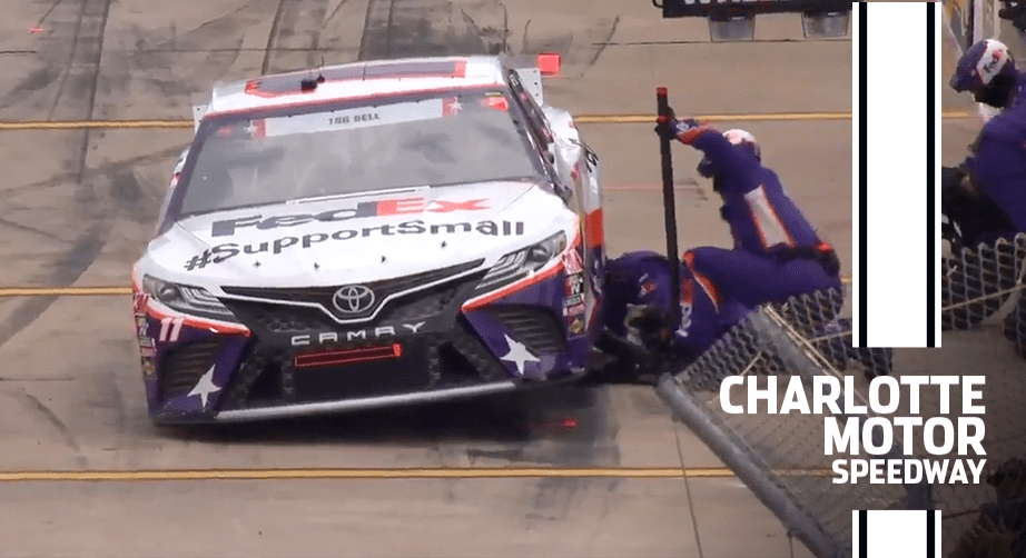 Hamlin has issues before green flag in the Coca-Cola 600