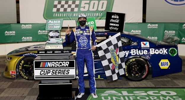 Elliott soothes 600 heartbreak with first Cup Series win of the season at Charlotte