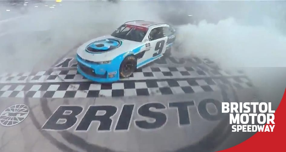 Gragson celebrates at Bristol following short-track win