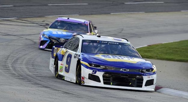 MARTINSVILLE, VIRGINIA - JUNE 10: Chase Elliott, driver of the #9 NAPA Auto Parts Chevrolet, drives during the NASCAR Cup Series Blue-Emu Maximum Pain Relief 500 at Martinsville Speedway on June 10, 2020 in Martinsville, Virginia. (Photo by Jared C. Tilton/Getty Images) | Getty Images