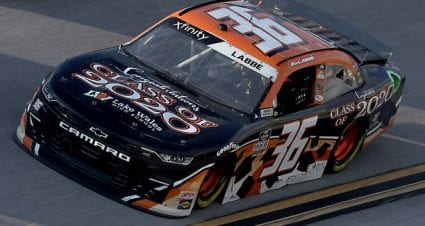 Alex Labbe drives No. 36 Chevrolet to ninth-place finish at Talladega Superspeedway