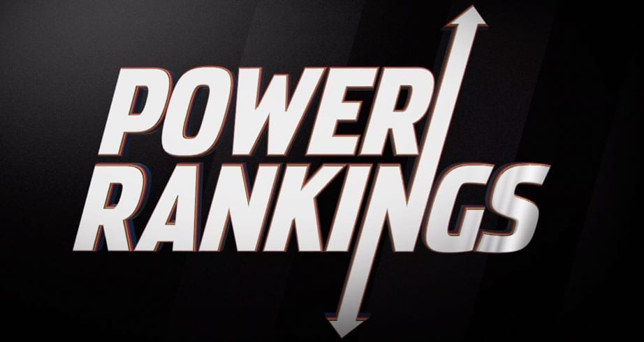 Power Rankings: 'Rowdy' on the rise, plus a new No. 1
