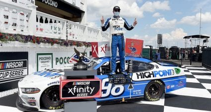 Spin and win: Briscoe seals Xfinity triumph in overtime at Pocono; Dash 4 Cash to Chastain