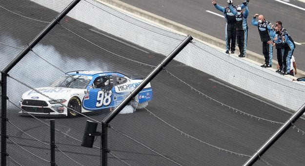 Chase Briscoe prevails in late-race scramble for Xfinity win at Indy road course