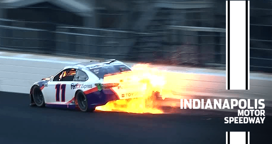 Hamlin crashes out of the lead at Indianapolis