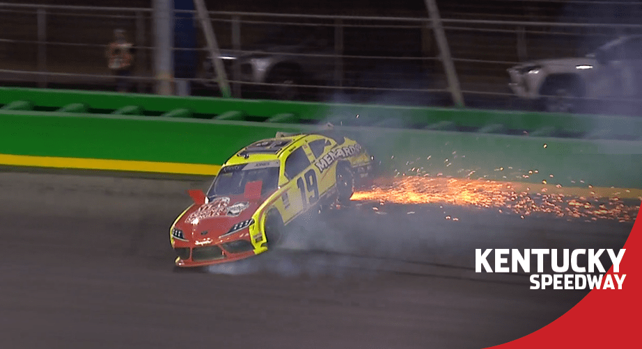 Brandon Jones spins late at Kentucky