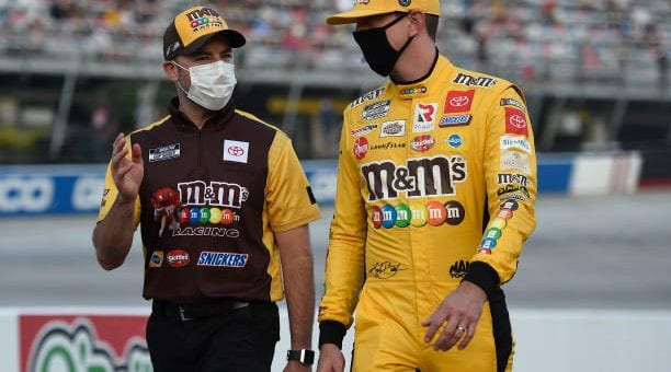 Kyle Busch Drives No 18 Toyota Camry To Second Place Finish At Bristol Motor Speedway.jpg