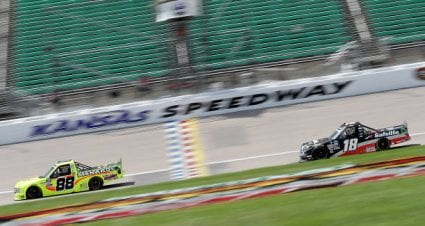 Christian Eckes drives No. 18 Toyota Tundra to second-place finish at Kansas Speedway