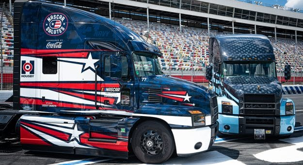 Mack Anthem honors NASCAR Salutes campaign