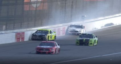 Blaney, Keselowski crash while racing for lead in second Michigan race