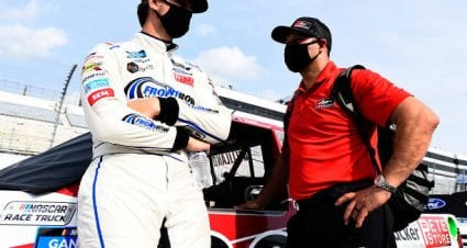 Todd Gilliland drives No. 38 Ford F-150 to fourth-place finish at Dover International Speedway