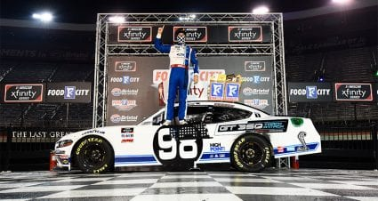 Briscoe steals Xfinity Series regular-season finale win at Bristol