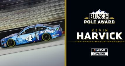 Kevin Harvick wins Busch Pole Award for playoff race at Las Vegas