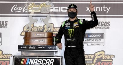 Sin City sizzler: Kurt Busch wins Round of 12 opener at Las Vegas in overtime