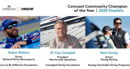 Bubba Wallace, Clay Campbell, Matt Kaulig named 2020 Comcast Community Champion of the Year finalists