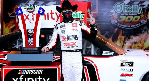 Spin and win: Burton bests Gragson on final lap to win at Texas