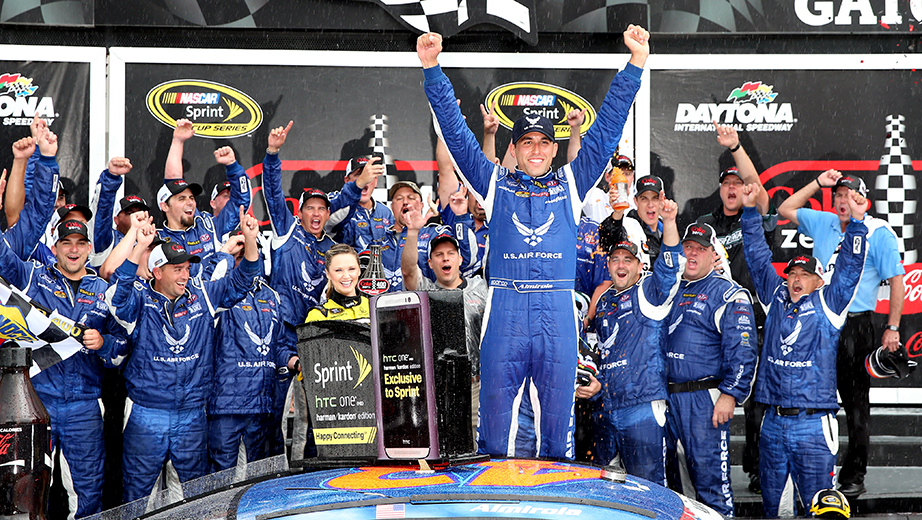 Aric Almirola gets 43 car first win since 1999   Official