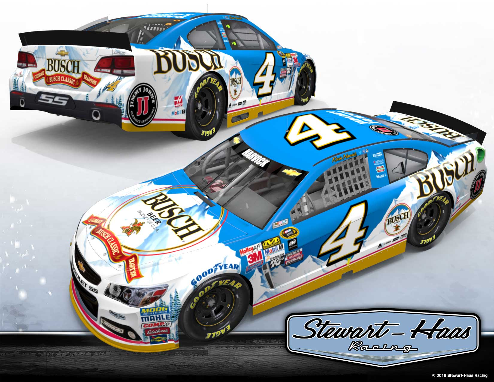 Kevin Harvick 2016 Paint Scheme Revealed Official Site Of Nascar